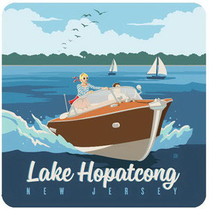 Lake Hopatcong Drink Coasters