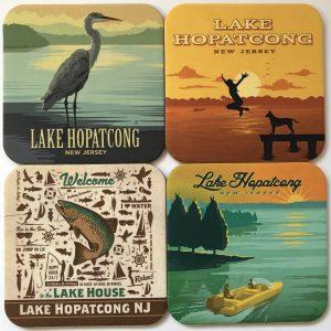 Lake Hopatcong Drink Coasters – Series 2