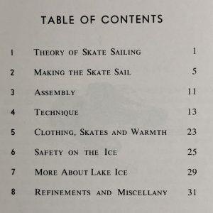 Vintage Skate Sailing Booklet
