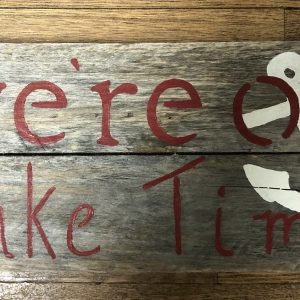 Rustic Lake Time Sign